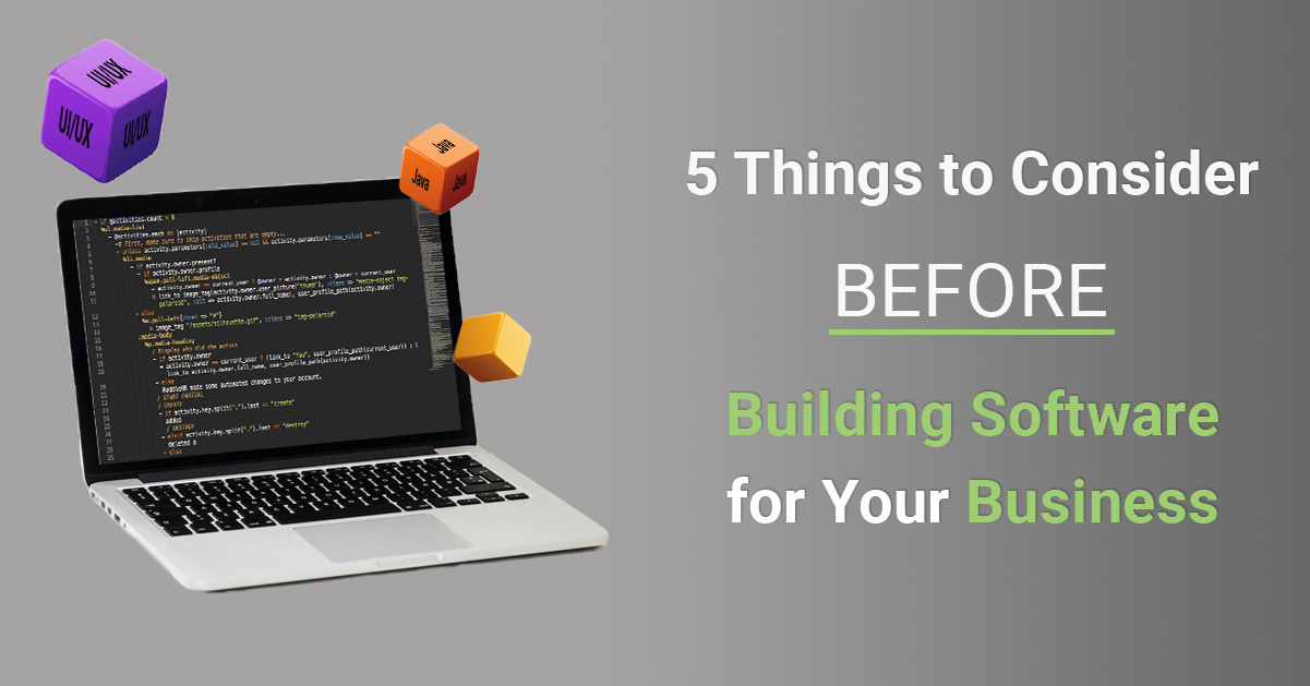 5 Things to Consider Before Building Software for Your Business