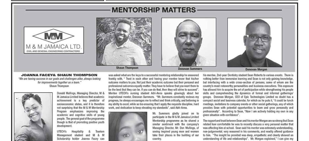 Donovan Morgan Mentorship Program Feature
