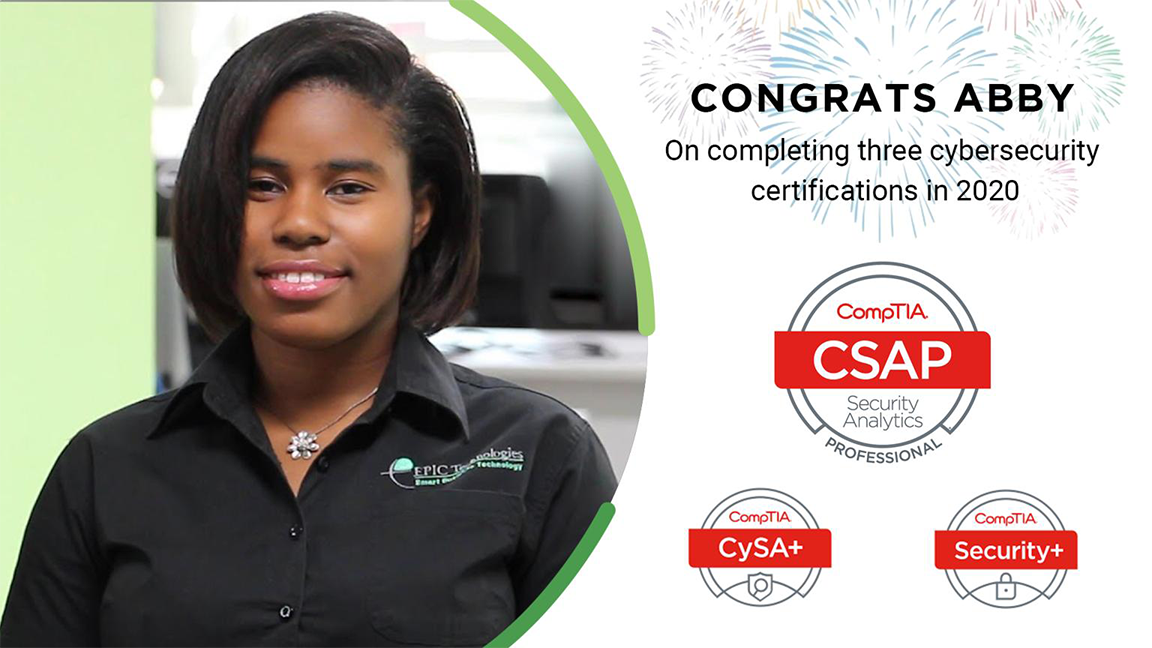 Congratulations Abby on Security Certificate
